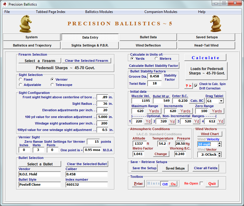 Precision Ballistics Ver. 5 Download - Click Image to Close