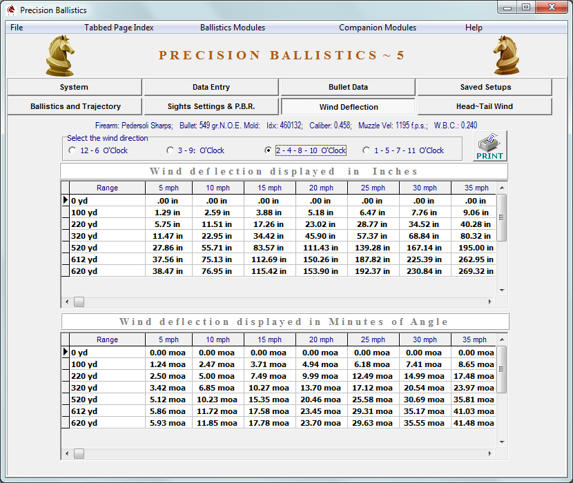 Update Precision Ballistics Version ~ 5, Released July 26, 2018 - Click Image to Close