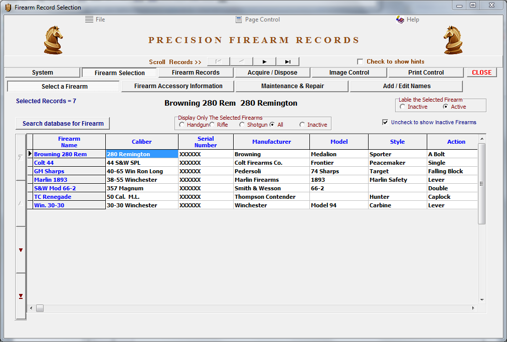 Firearm Records Ver. 5.1.1 Download - Click Image to Close